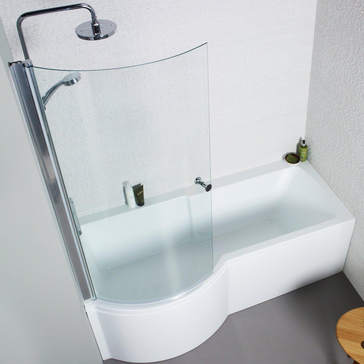 Kartell Adapt P-Shaped Shower Bath 1500 X 850mm Left Hand | BAT024AD -