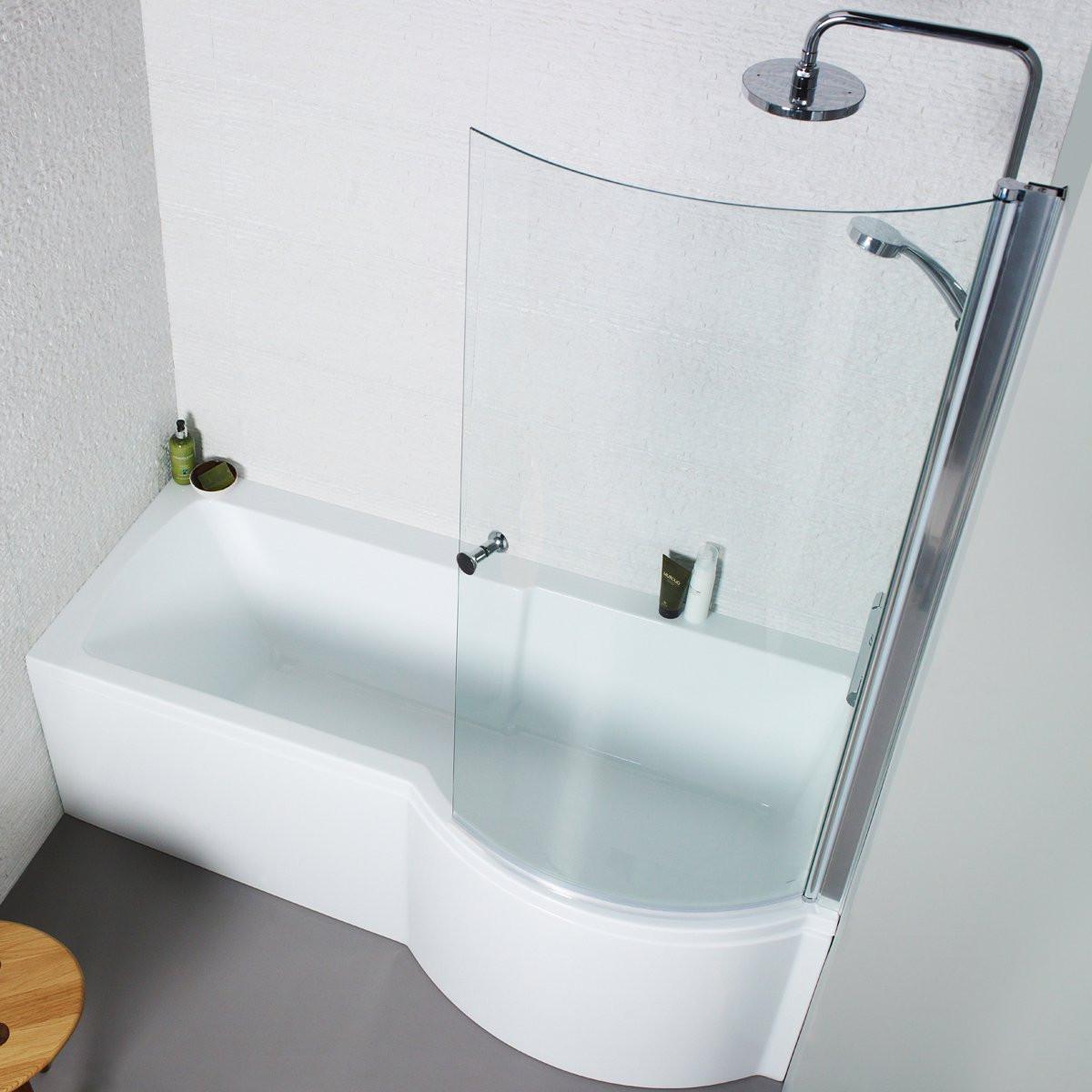 Kartell Adapt P-Shaped Shower Bath 1500 X 850mm Right Hand   BAT023AD -