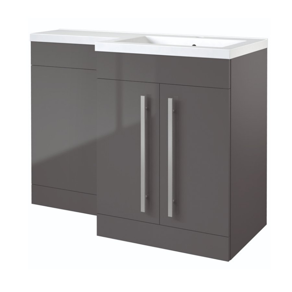 l shaped furniture. Kartell Matrix 2-Door L-Shaped Furniture Pack 1100mm - Grey Gloss RH L Shaped