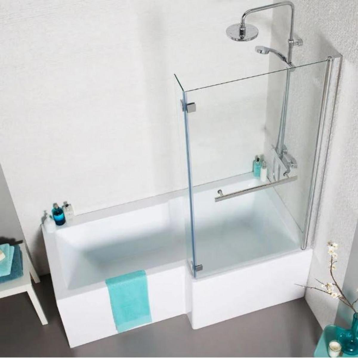 Kartell Tetris Square Shaped Shower Bath 1700 X 850mm Right Hand ...