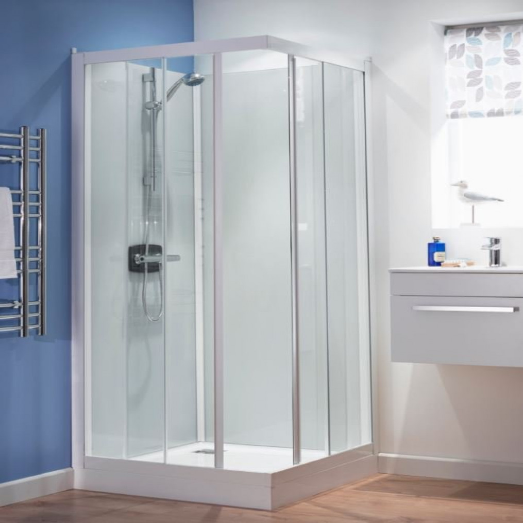 Kinedo Kineprime Glass 900 x 900mm Corner Slider Shower Cubicle ...