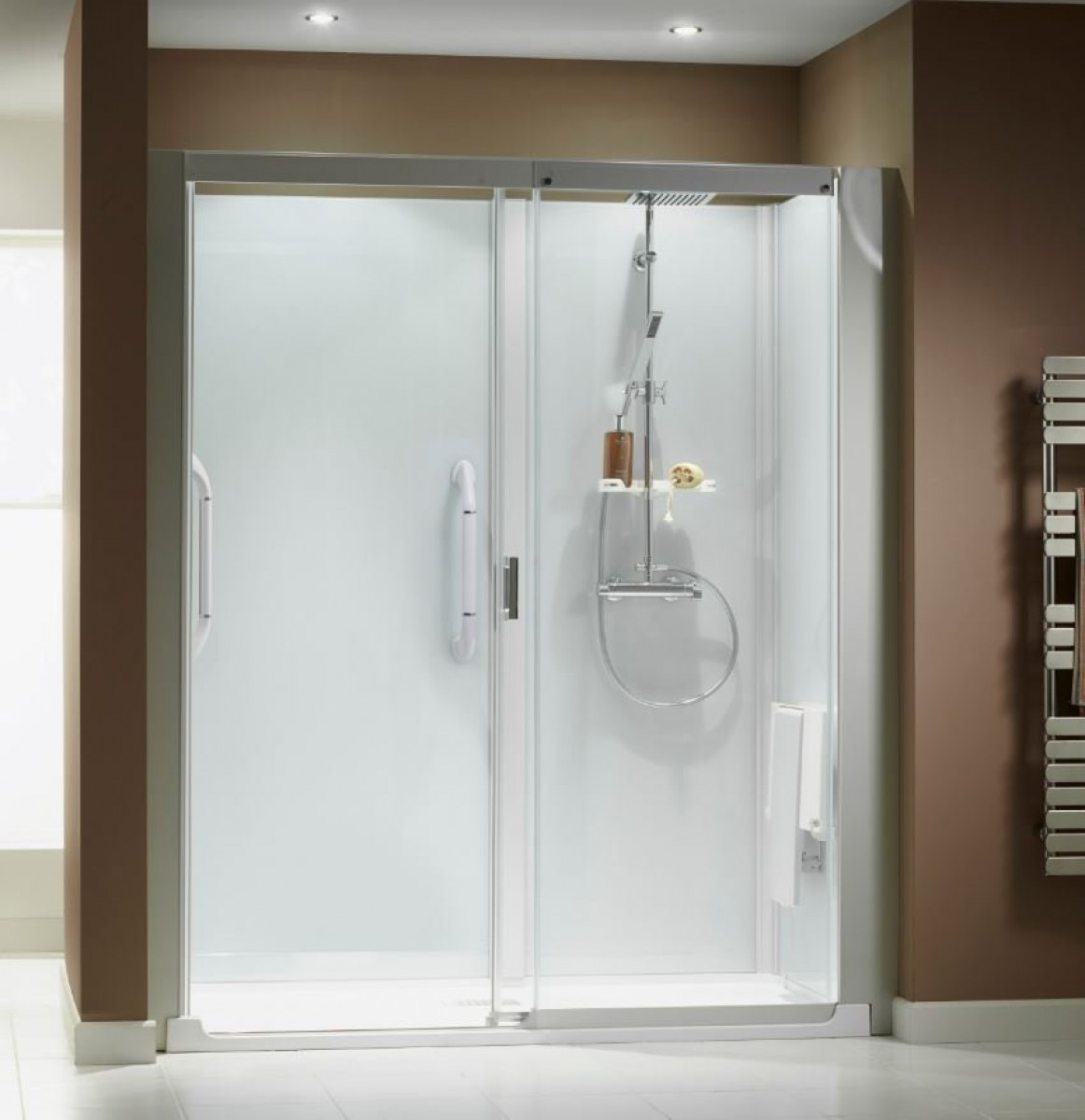 Kinemagic serenity 1400 x 800mm recess sliding shower for 1400 sliding shower door