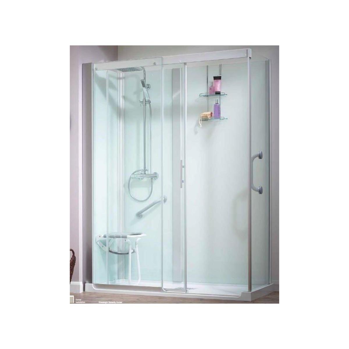 Kinemagic serenity 1700 x 800mm corner thermo k5 1708 for 1700 high shower door