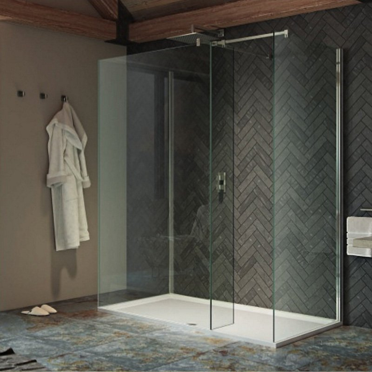 Kudos Ultimate2 10mm Three Sided 1500mm Walk In Shower