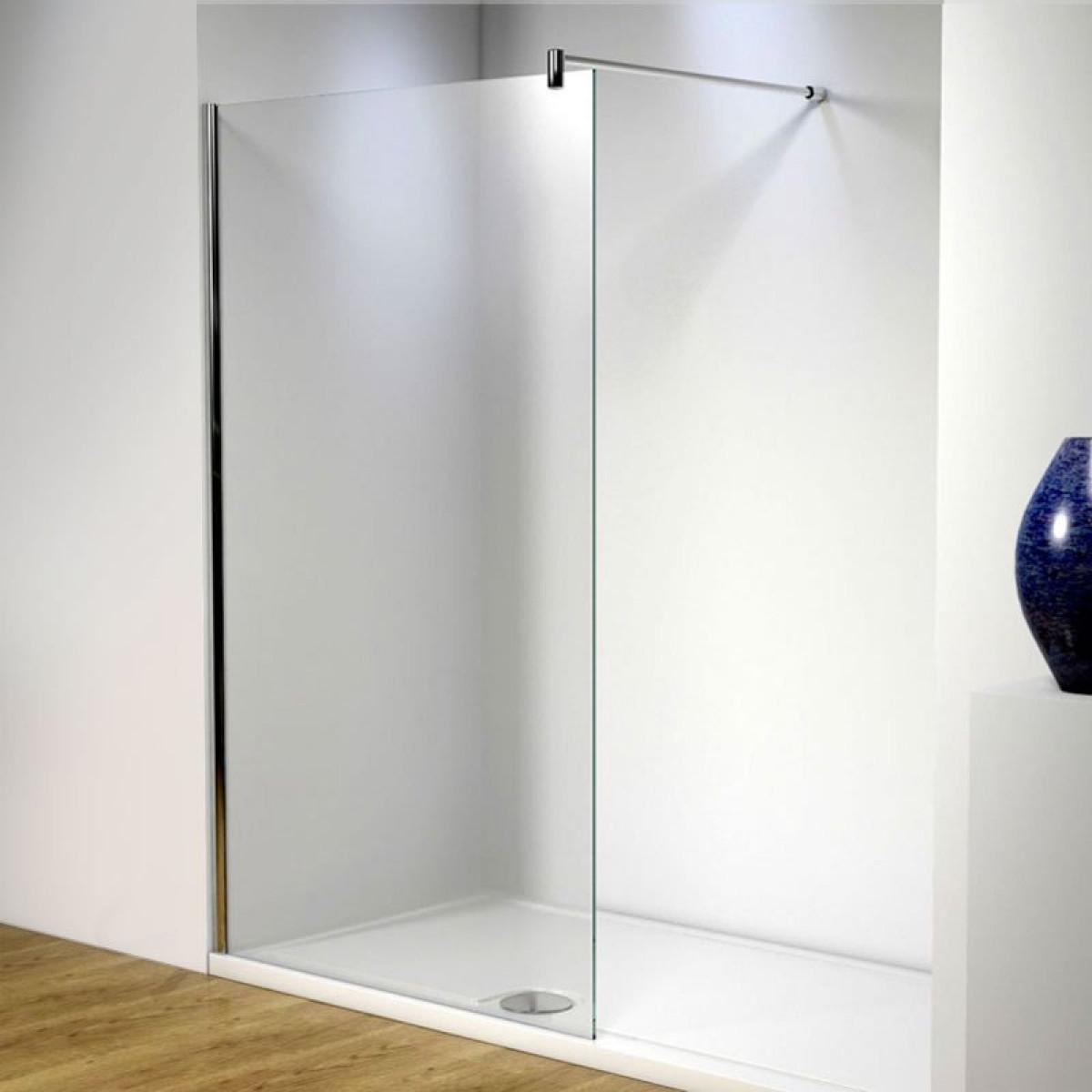 single clean in easy frameless door wet room sliding shower united glass walk new
