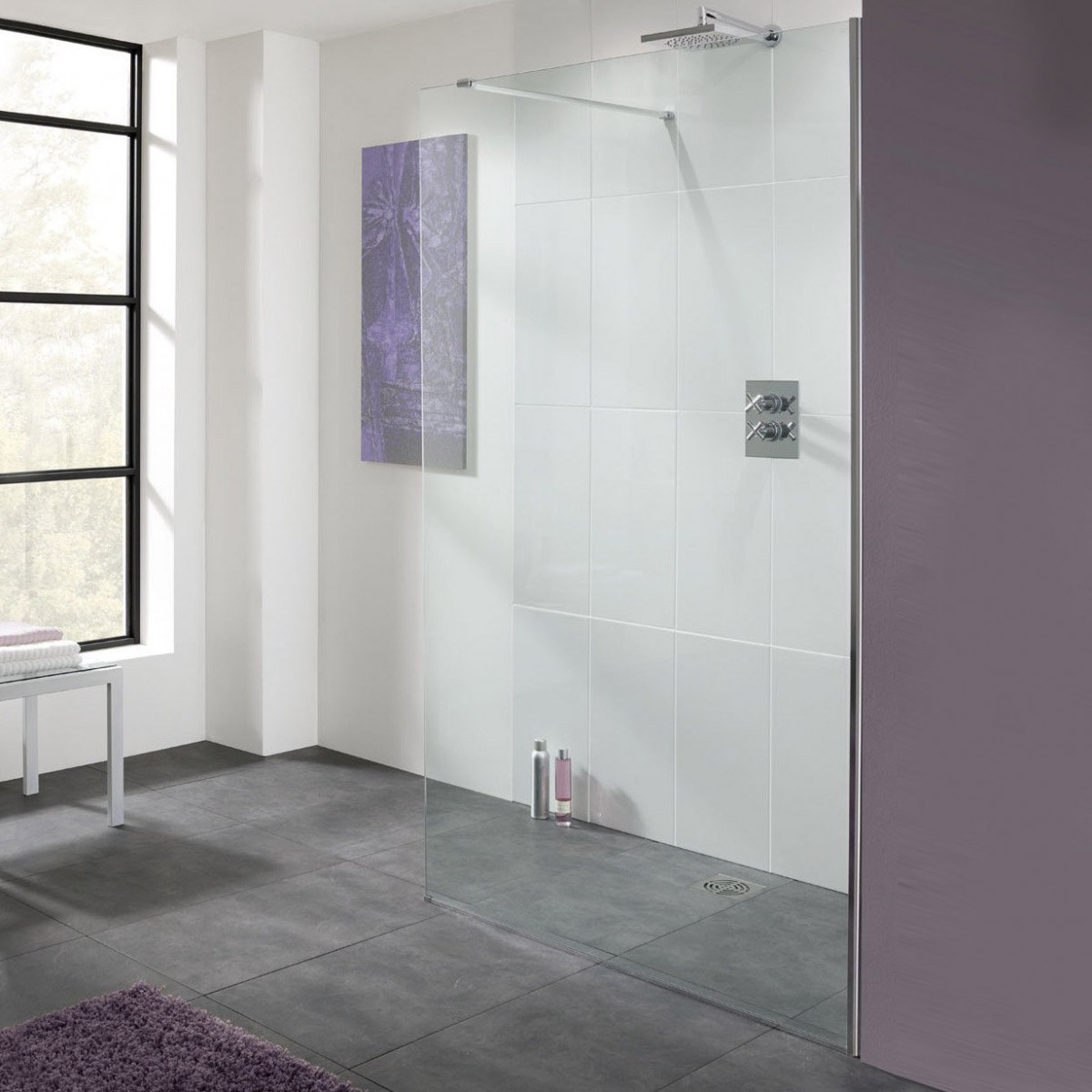 Lakes 400mm Cannes Walk In Shower Panel Lk810 04005