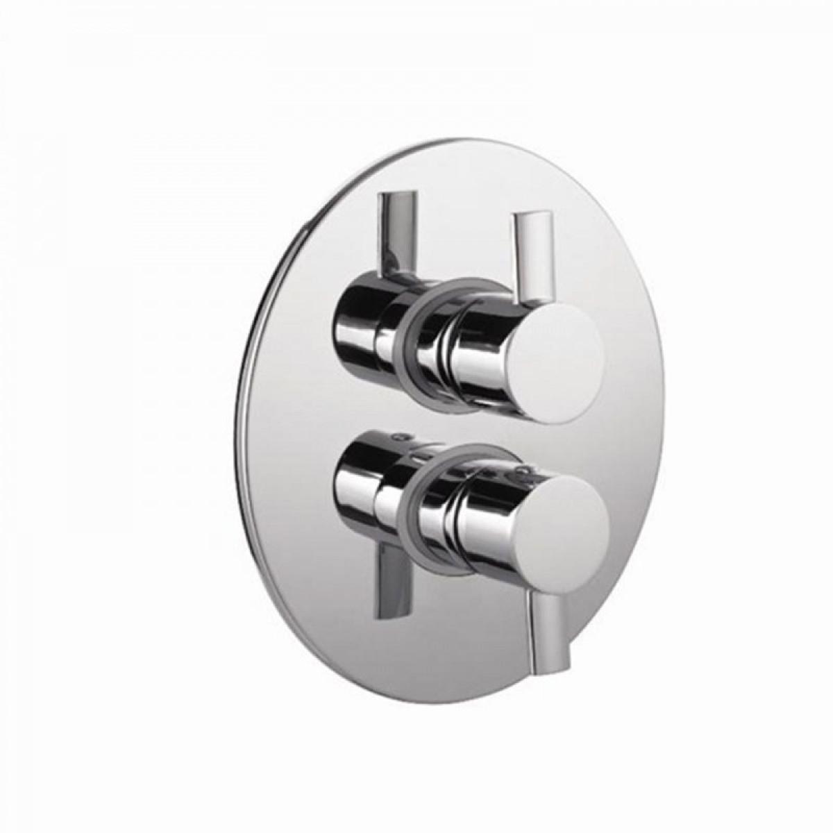 Thermostatic shower valve with 2 way diverter thorfire flashlight