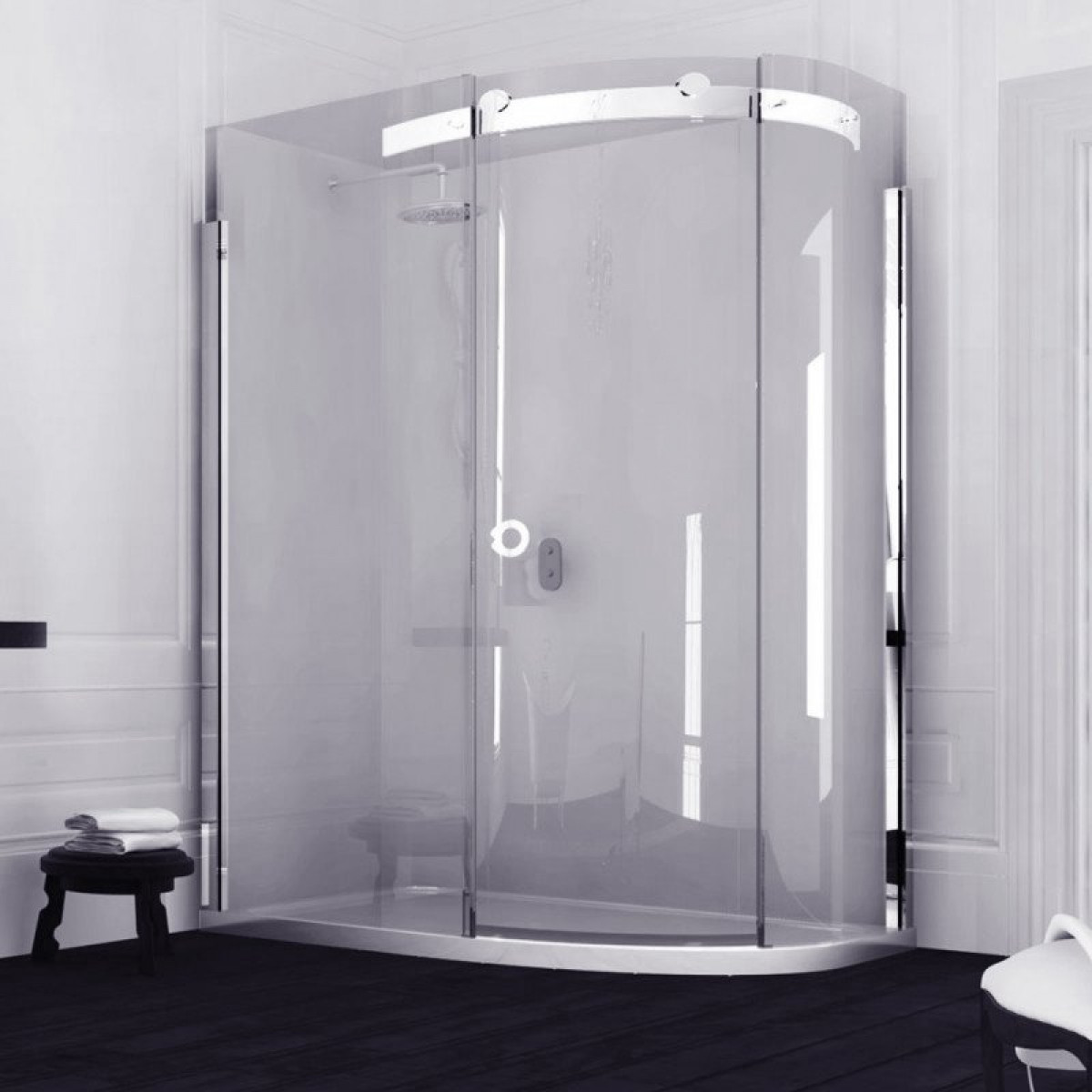 Merlyn 10 series offset quadrant shower enclosure 1400 x for 1400 shower door