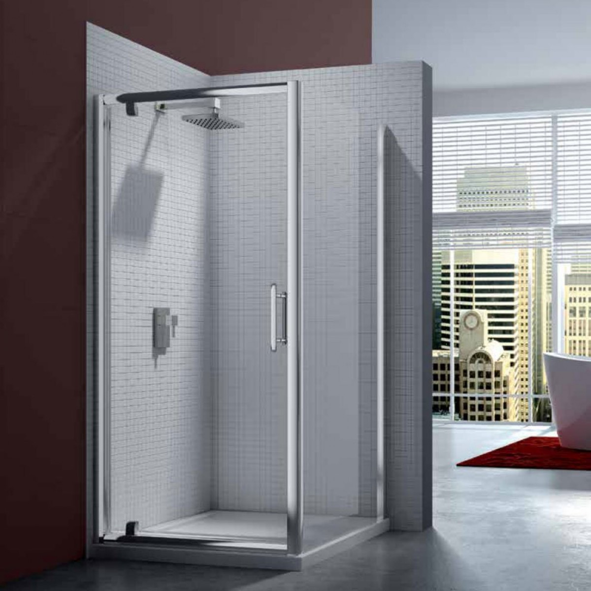 Merlyn 6 series 1000mm pivot shower door for 1000mm shower door