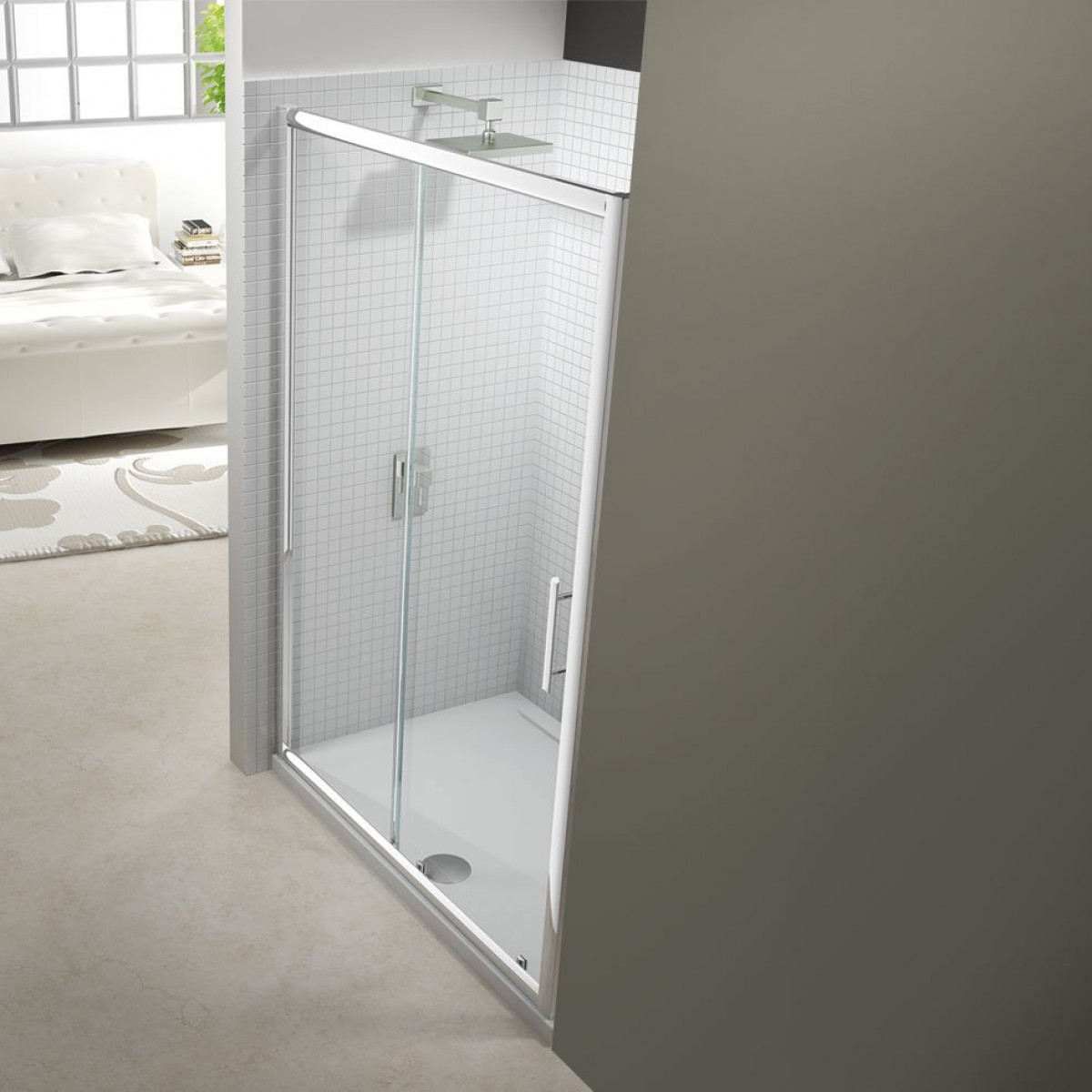 Merlyn 6 series 1000mm sliding shower door for 1000mm shower door