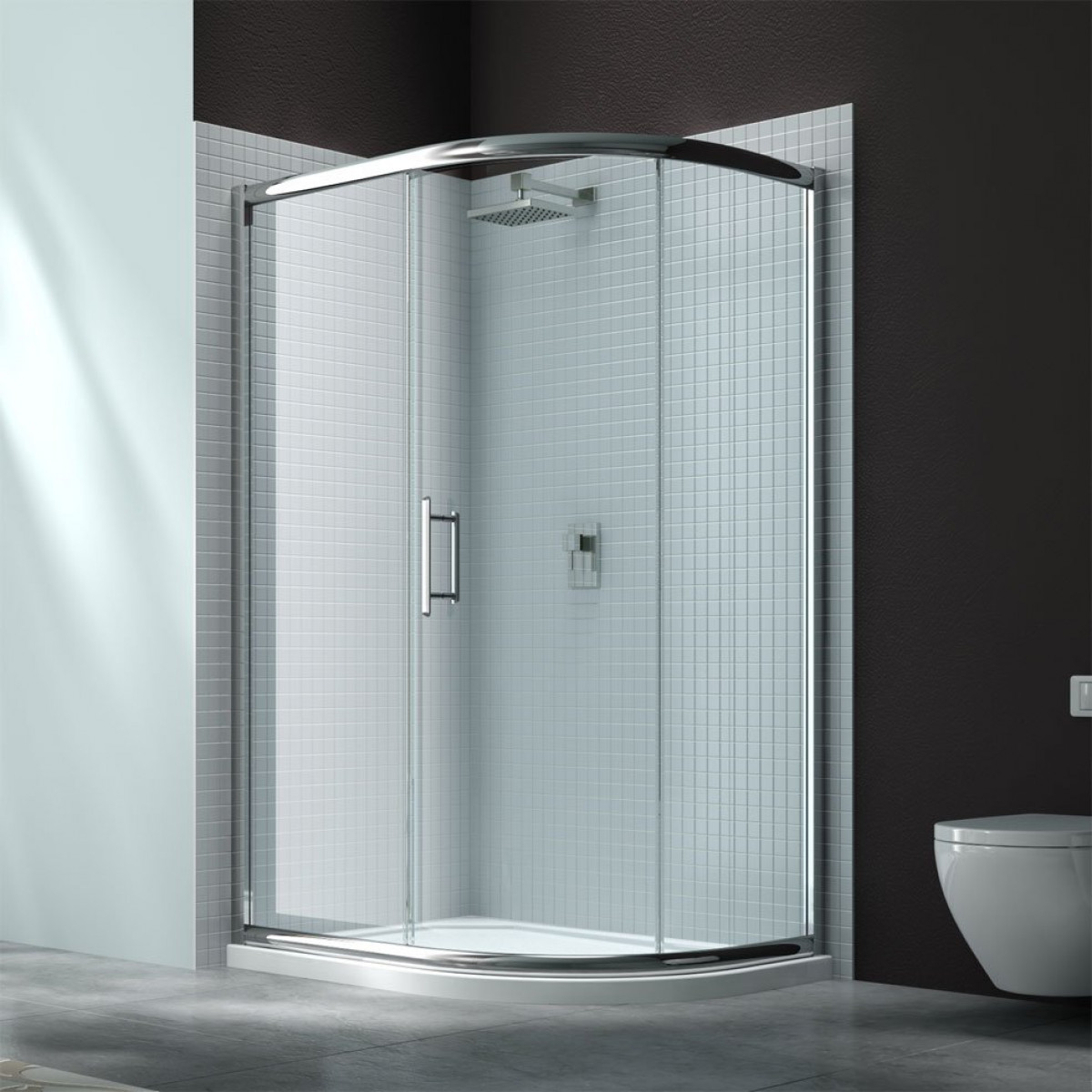 Merlyn 6 series 1200 x 900 1 door offset quadrant shower for 1200 door