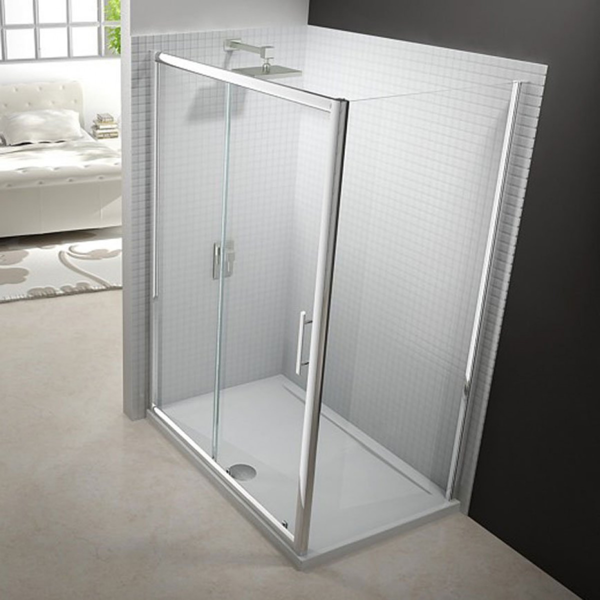 Merlyn 6 series 1200mm sliding shower door for 1200mm shower door sliding