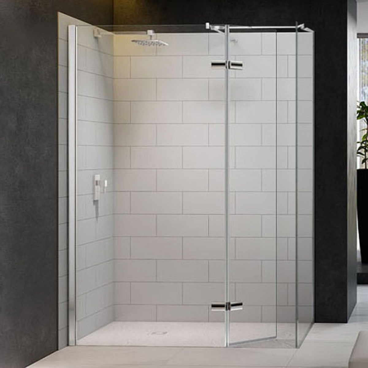 Merlyn 8 Series 1400 X 800mm Walk In Enclosure With Hinged Swivel Panel