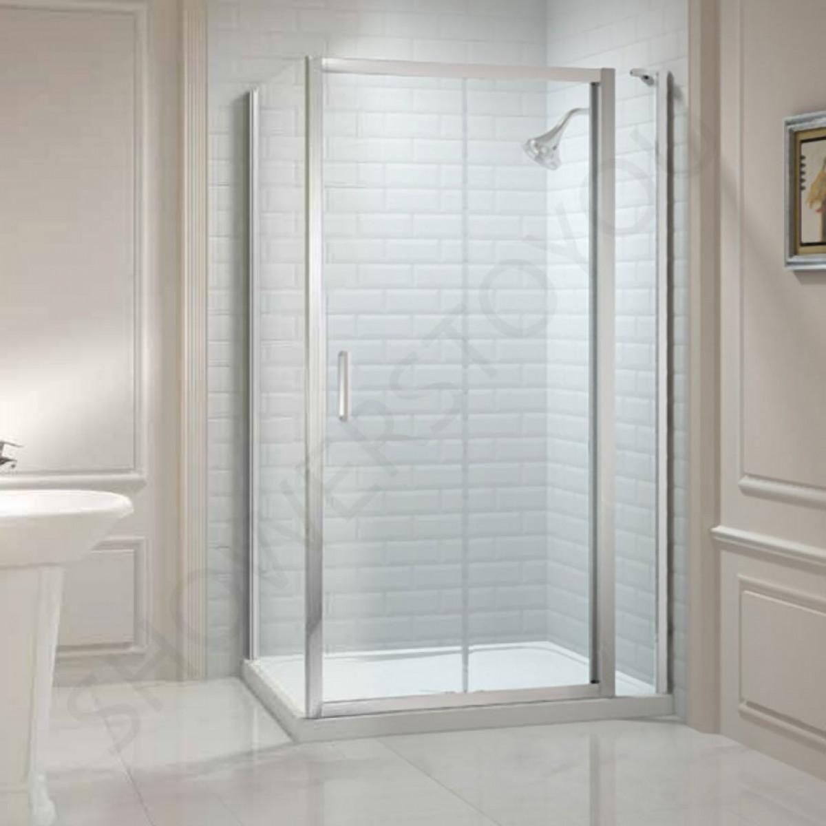 Merlyn 8 series 1400mm sliding shower door and 2 inline for 1400mm sliding shower door