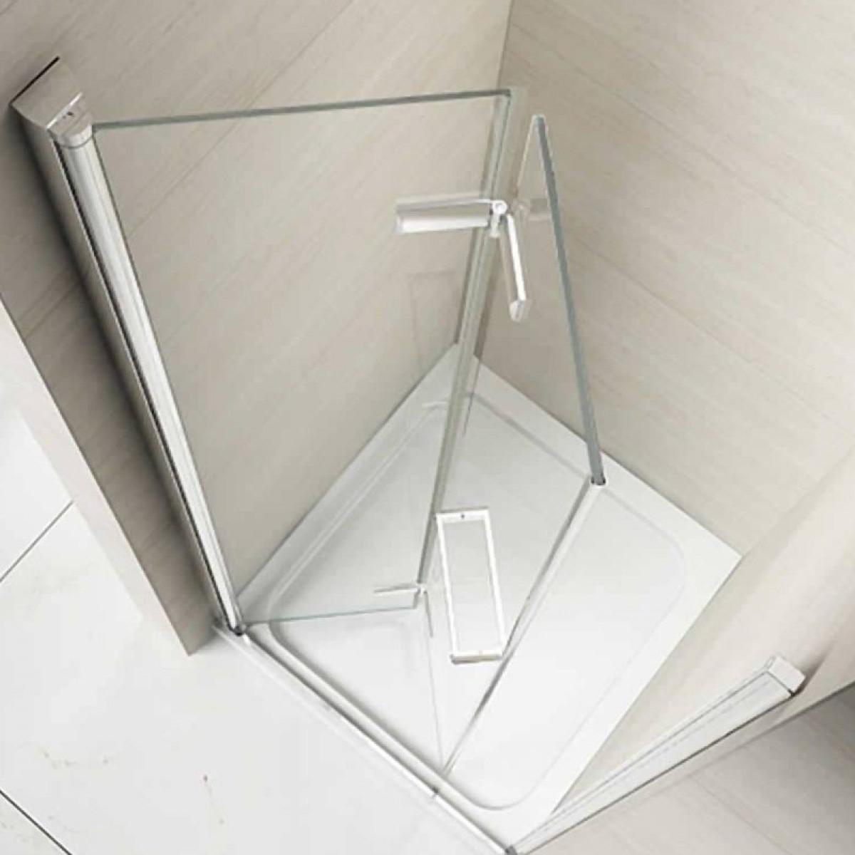 Frameless Folding Door : Merlyn series mm frameless hinged bifold door