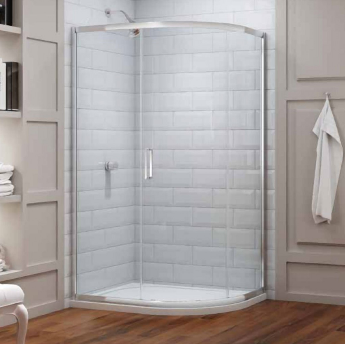 Merlyn 8 Series 900 x 760 1 Door Quadrant Shower Enclosure | M83222 -