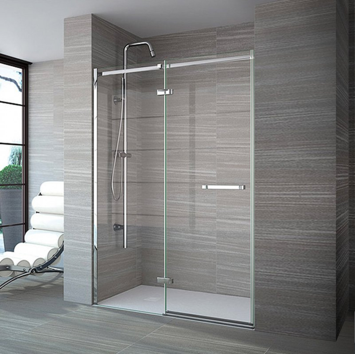Merlyn 8 Series Frameless 1400 Mm Hinge Amp Inline Shower