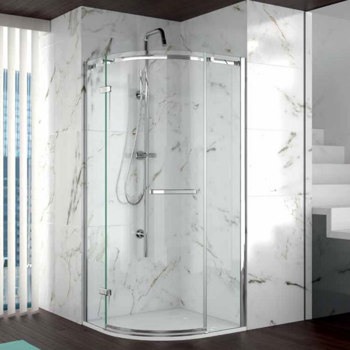 Merlyn 8 series frameless 1 door quadrant 800 x 800mm for Door quadrant