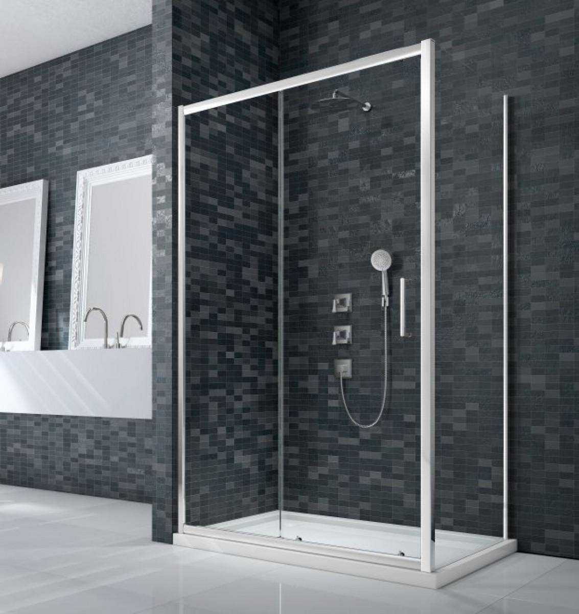 Merlyn essence framed 1000mm sliding shower door for 1000mm sliding shower door