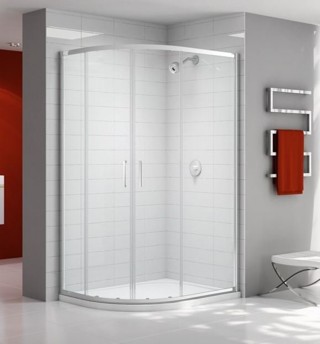 Merlyn Ionic Express 1200 X 900mm 2 Door Offset Quadrant Enclosure