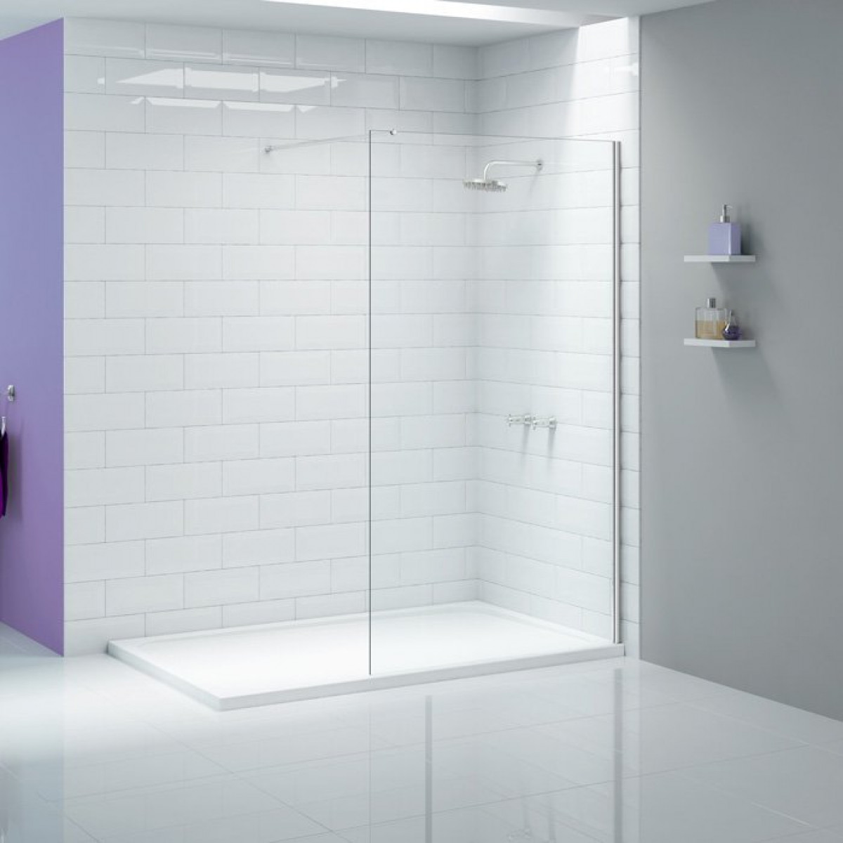 Merlyn Ionic 700mm Showerwall Panel | A0409A0