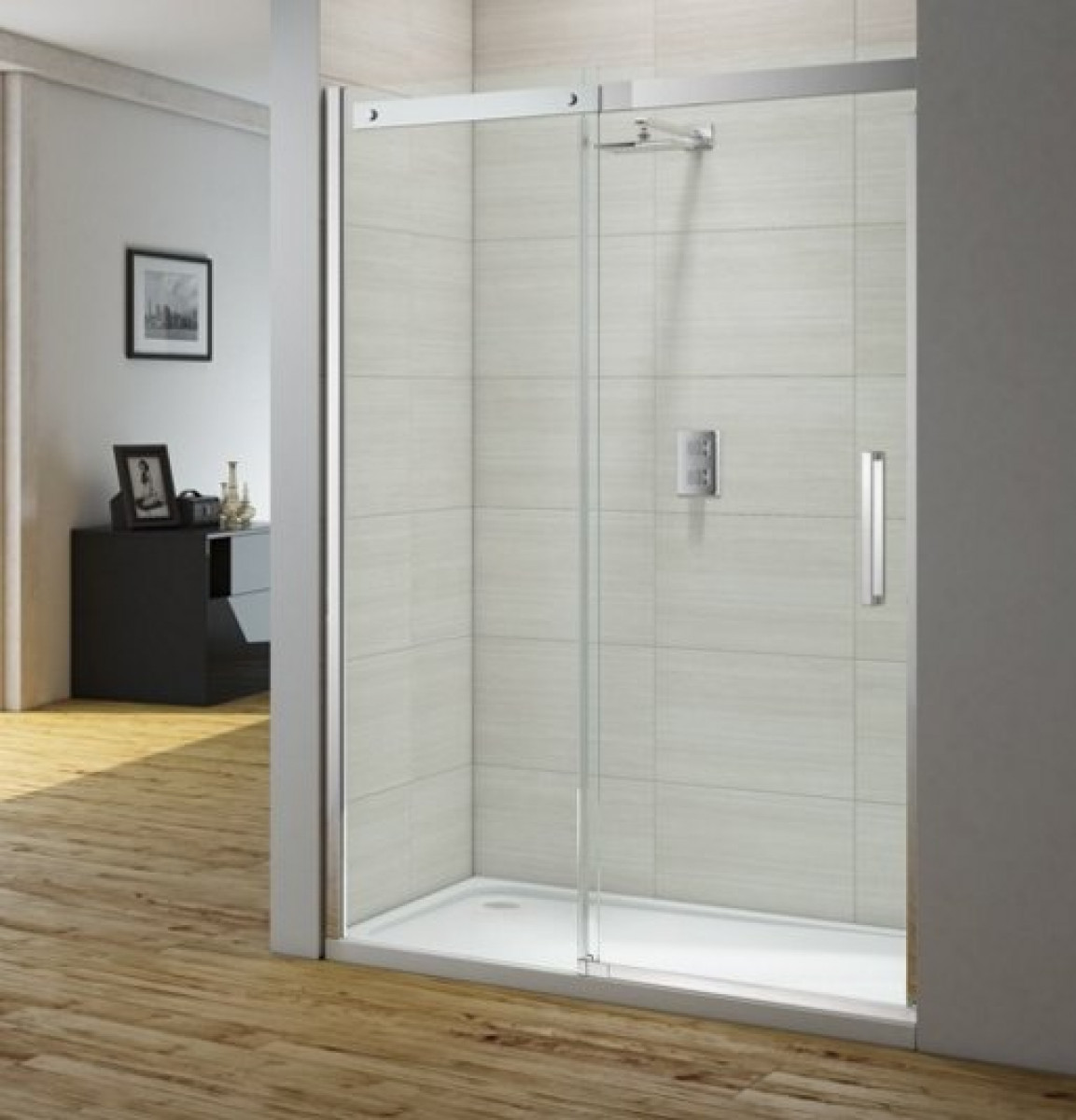 Merlyn ionic gravity 1200mm sliding shower door igcsl1200 for 1200mm shower door sliding