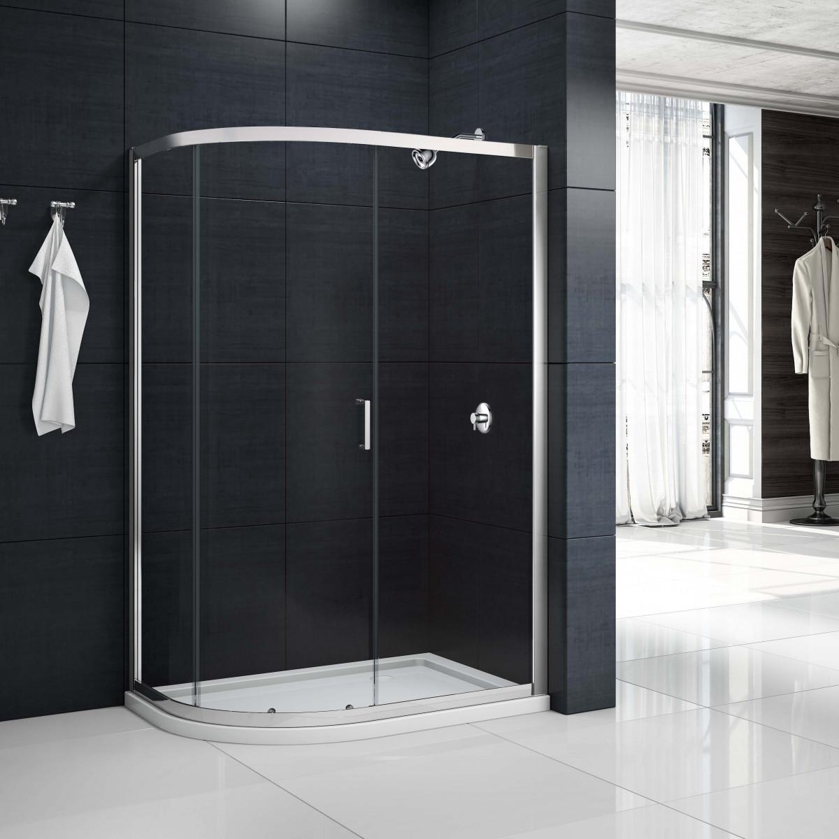 Merlyn Mbox 1 Door Offset Quadrant Shower Enclosure 1200 X