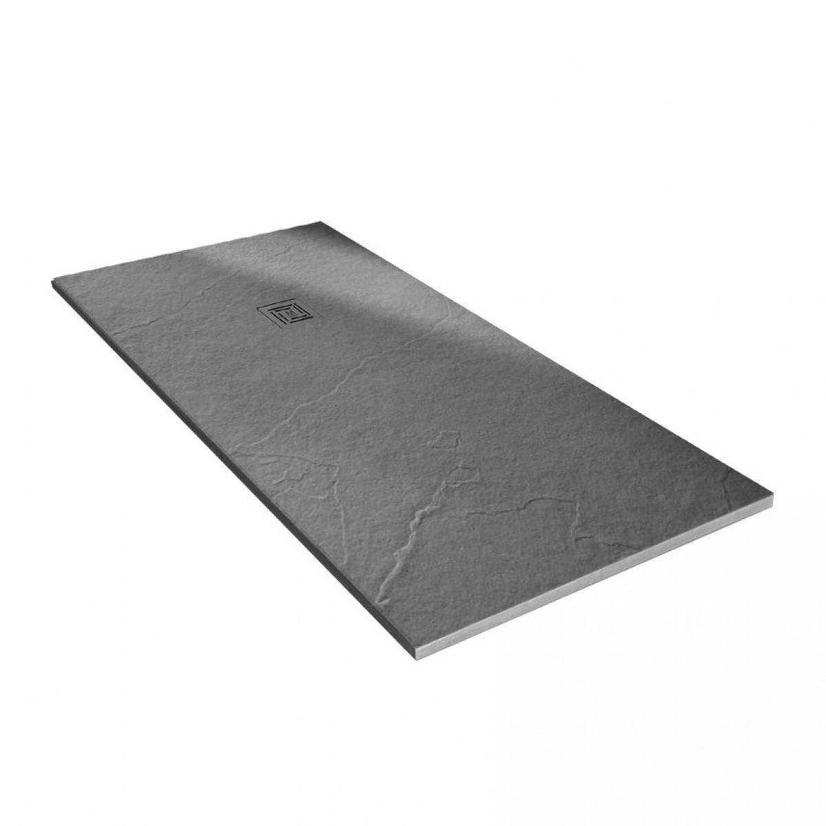 Merlyn Truestone Rectangular Shower Tray 1600 x 800mm Fossil Grey ...