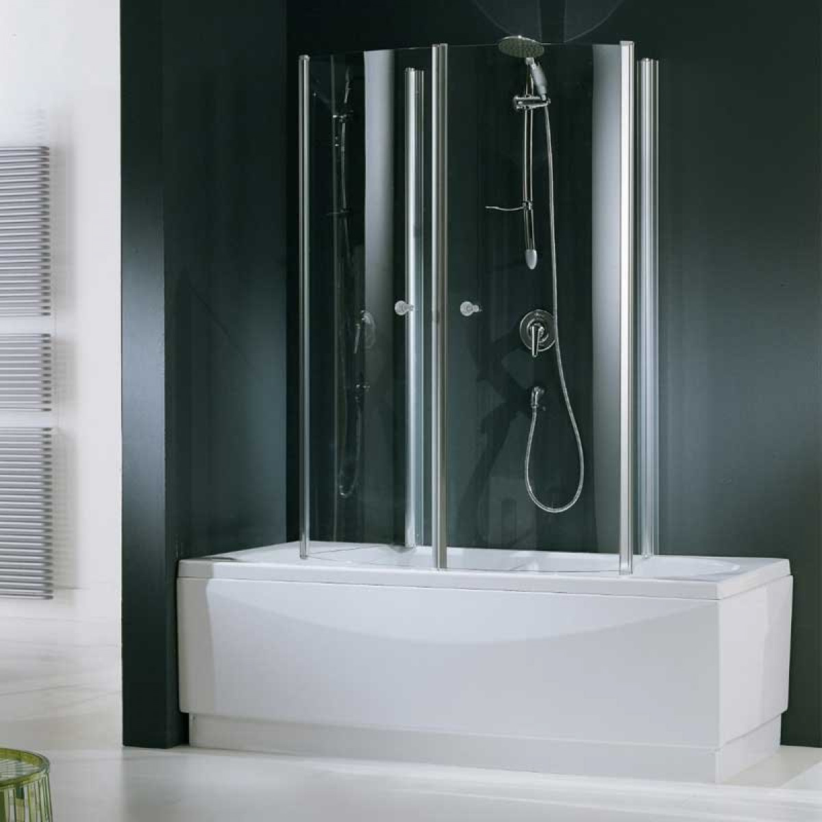 Aurora 4 Novellini.Novellini Aurora 4 Two Folding 750mm Bath Screen