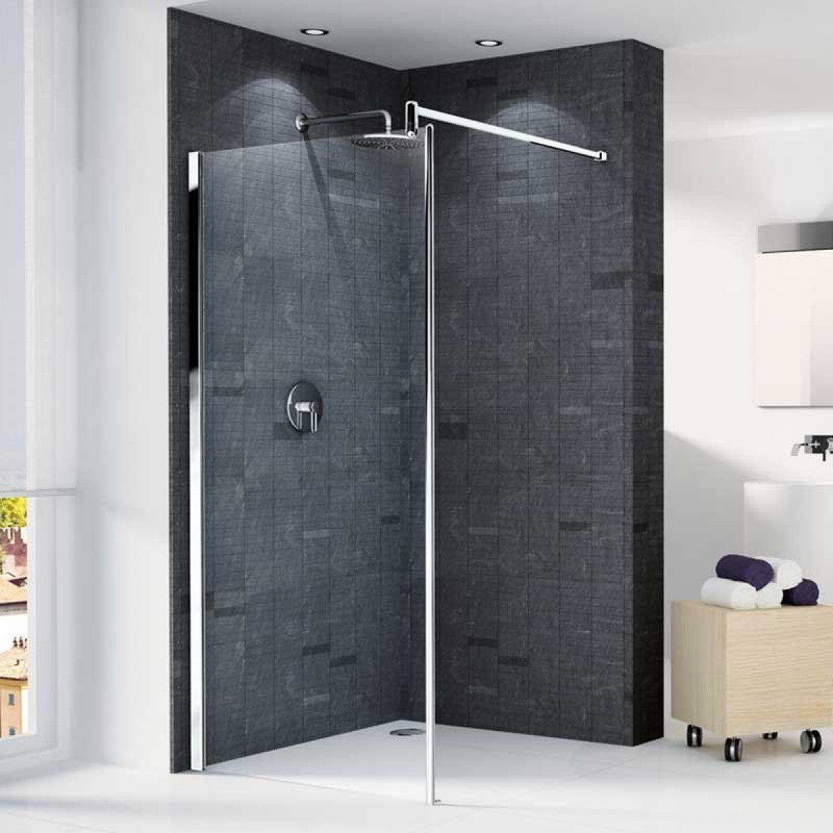 Novellini Go 1 Walk in 780mm Shower Panel | GON178-1K