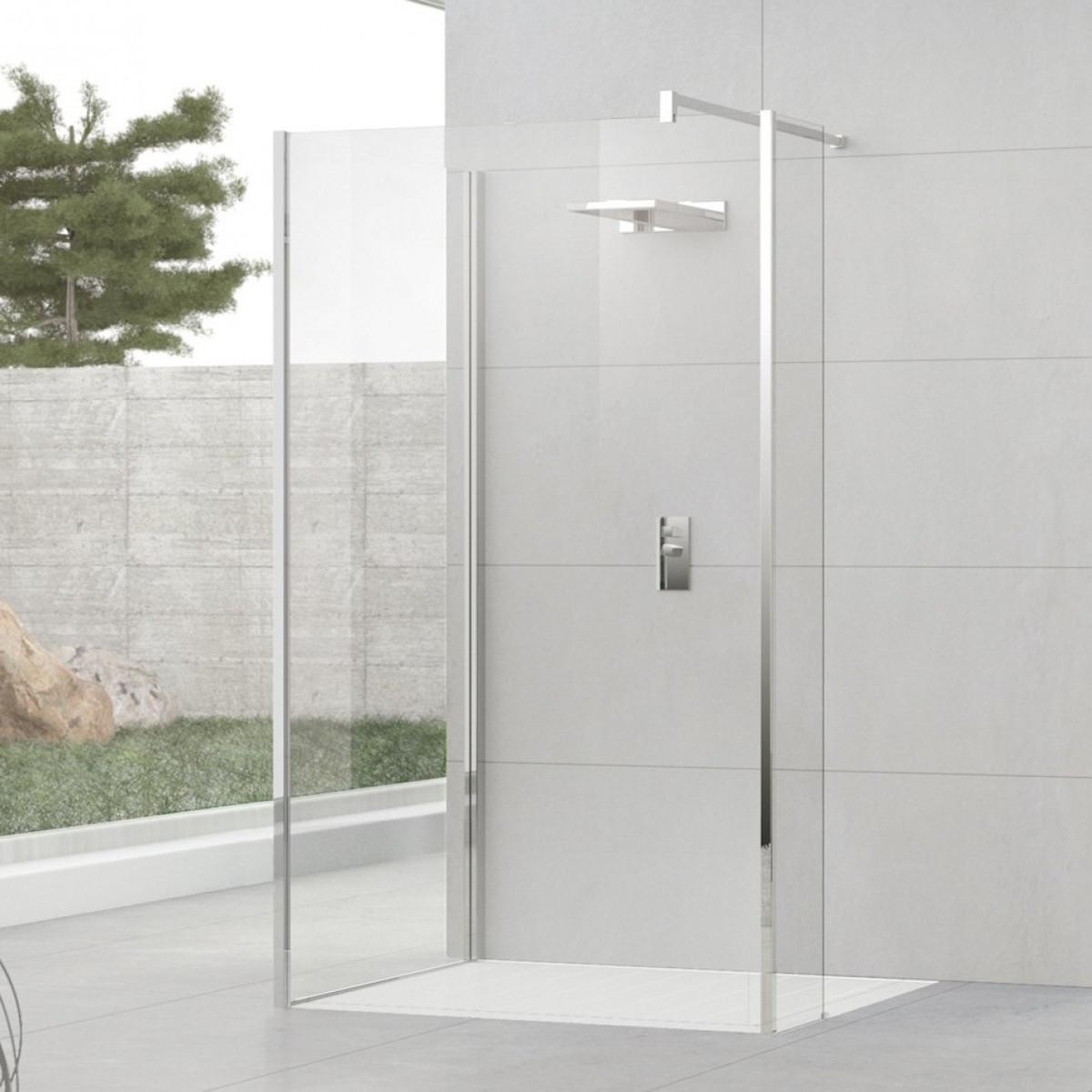Novellini Kuadra H9 1300mm Walk in Shower Enclosure | KUADH130-