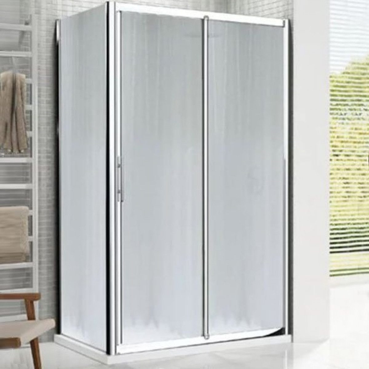 Novellini lunes 1300mm 2p sliding shower door lunes2p126 for 1300 sliding shower door
