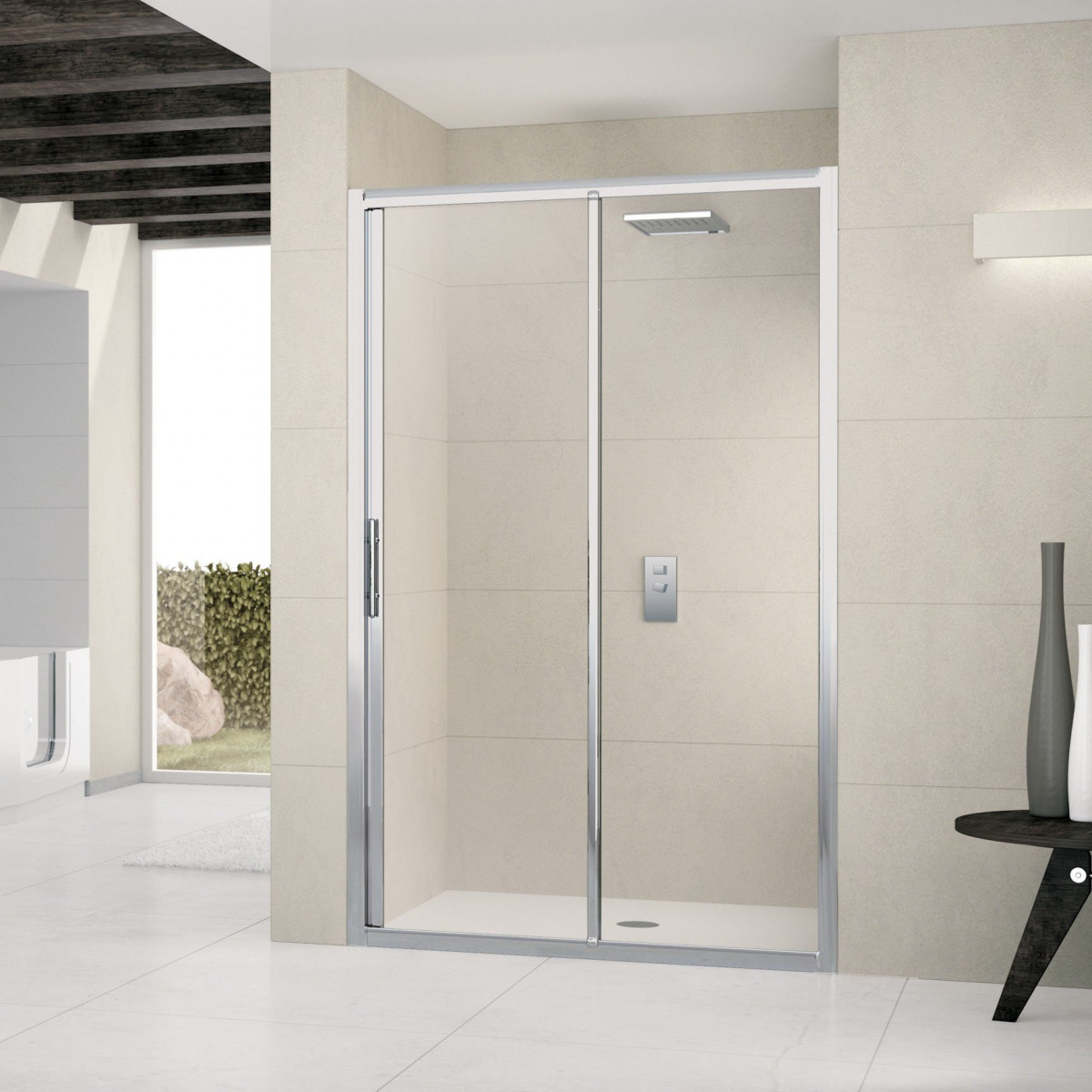 Novellini lunes 1400 2p sliding shower door lunes2p132 for 1400 sliding shower door
