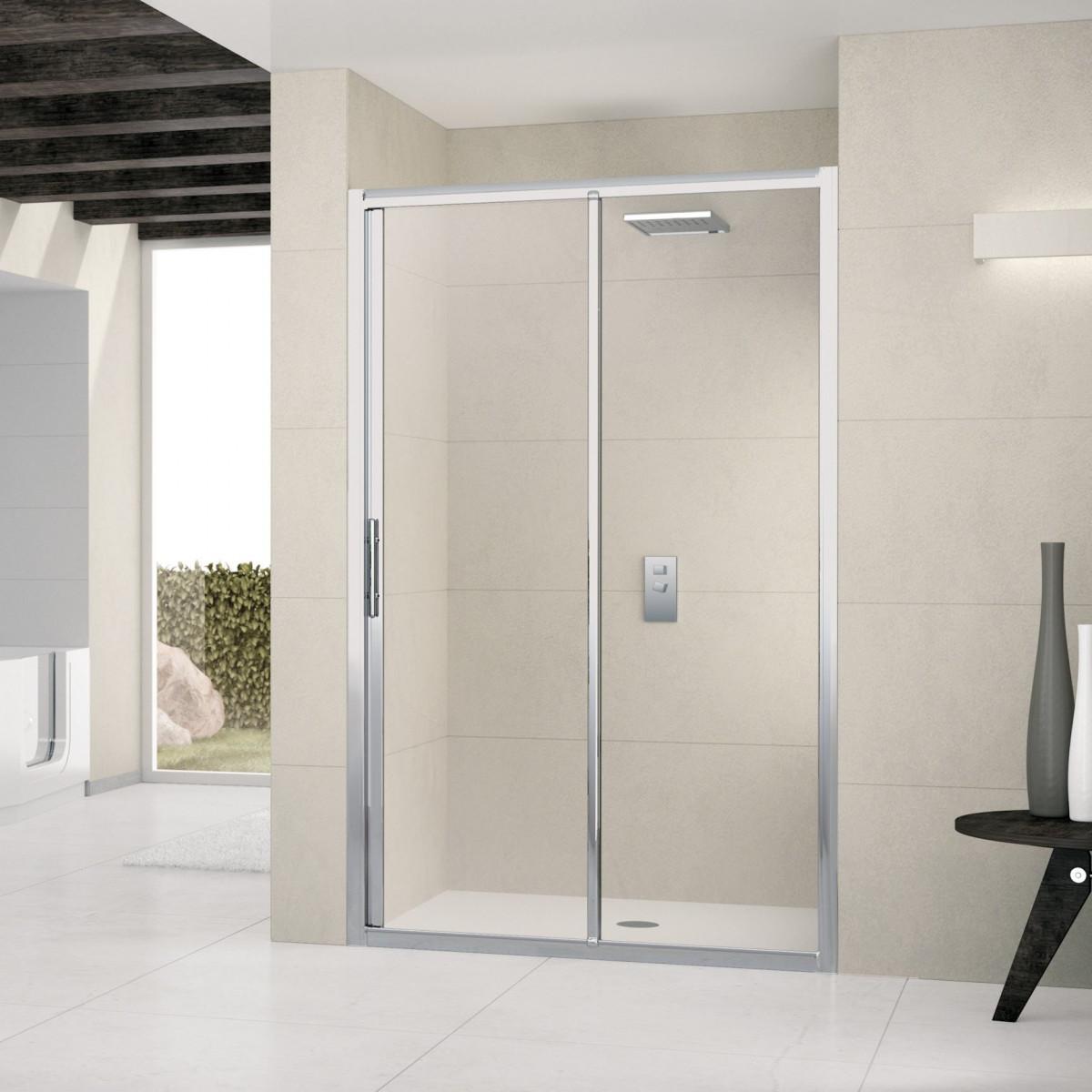 Novellini lunes 1500 2p sliding shower door lunes2p144 for 1500 sliding shower door
