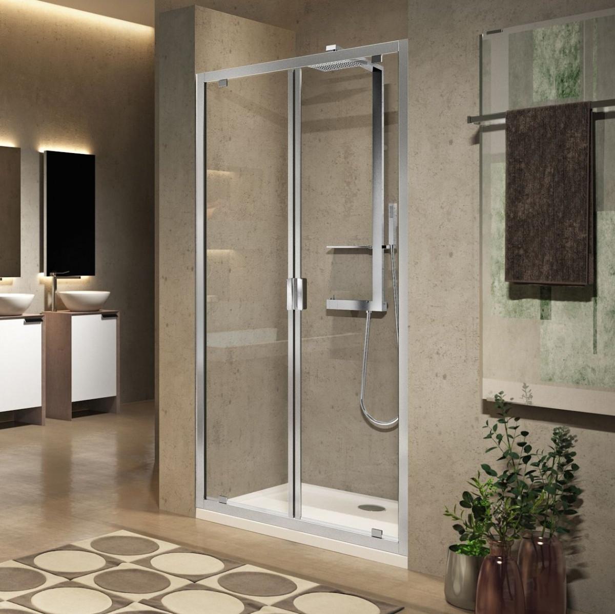 Novellini Lunes 2.0 B Saloon Type Shower Door 800mm | LUNB78-1K -