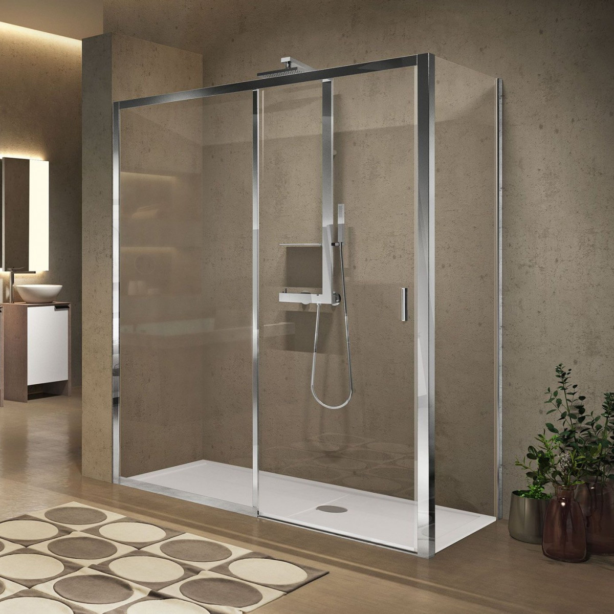 Novellini Lunes 2 0 2p 1200mm Sliding Shower Door