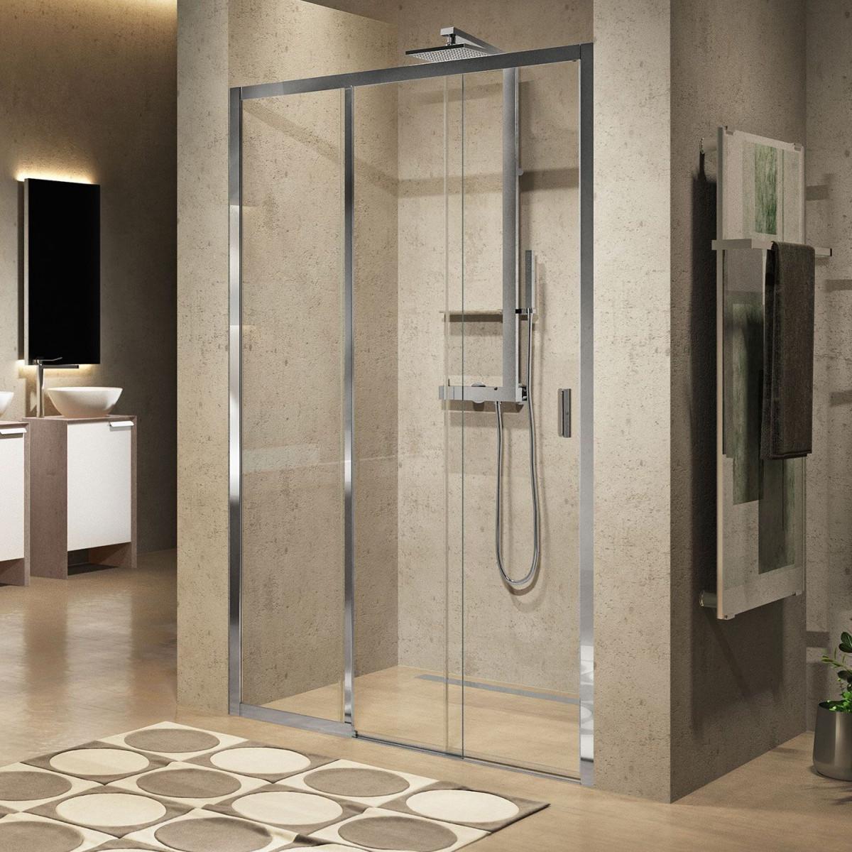 Novellini lunes 2 0 3ph sliding shower doors 800mm for Novellini shower doors