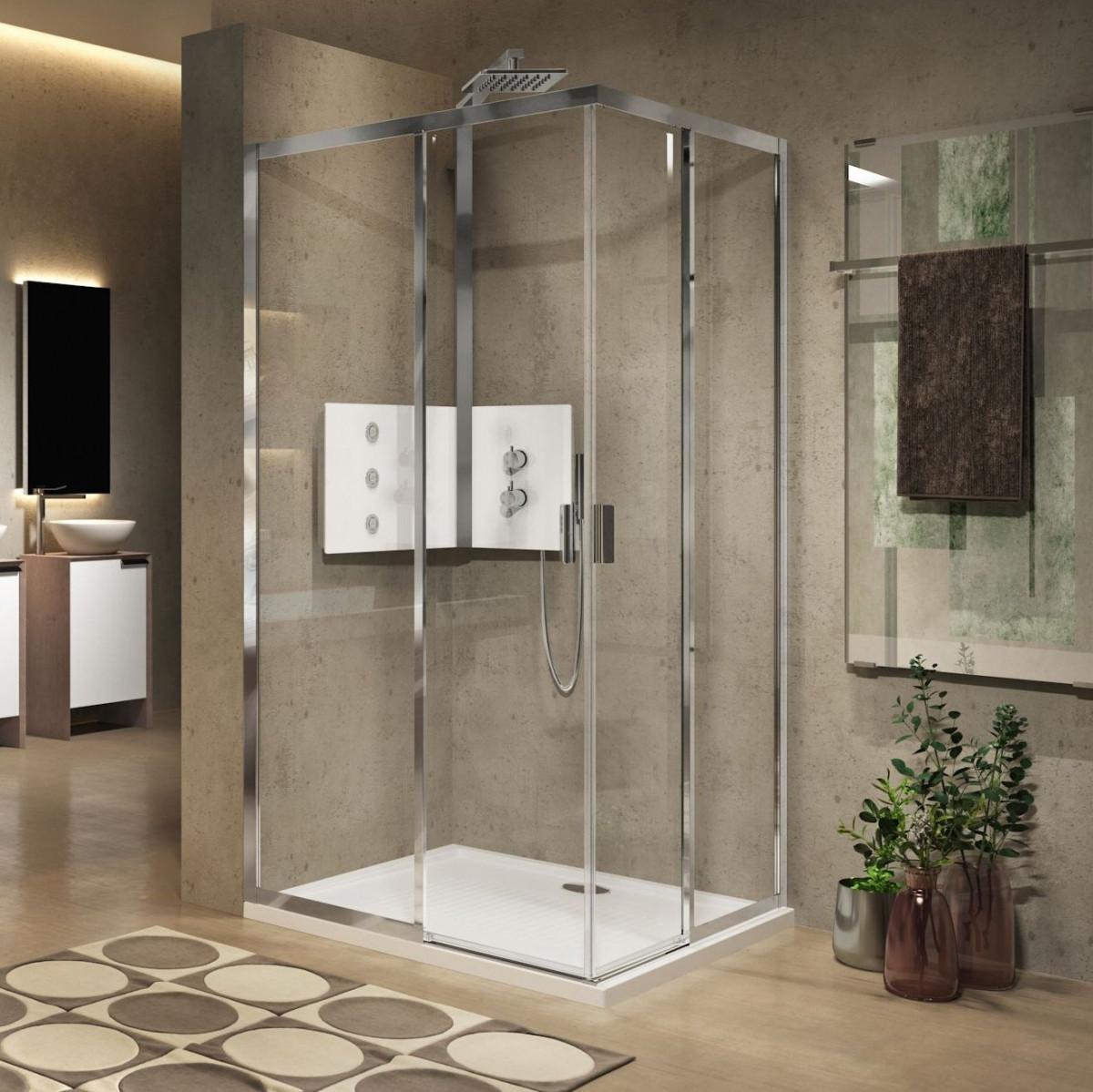 Novellini Lunes 2 0 Ah 1200mm Corner Entry Shower