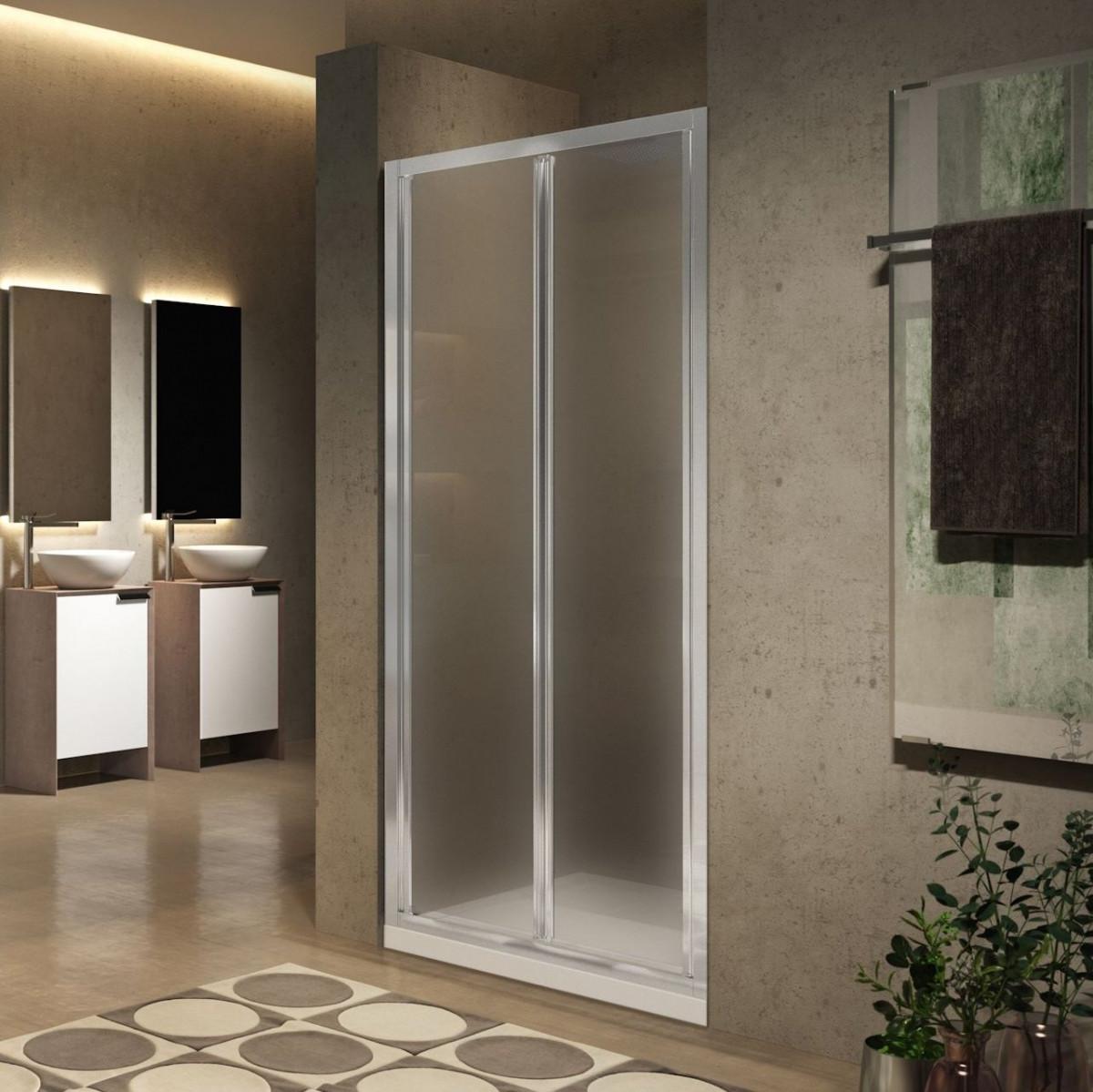 Novellini lunes 2 0 s folding shower door 780 840mm for Novellini shower doors