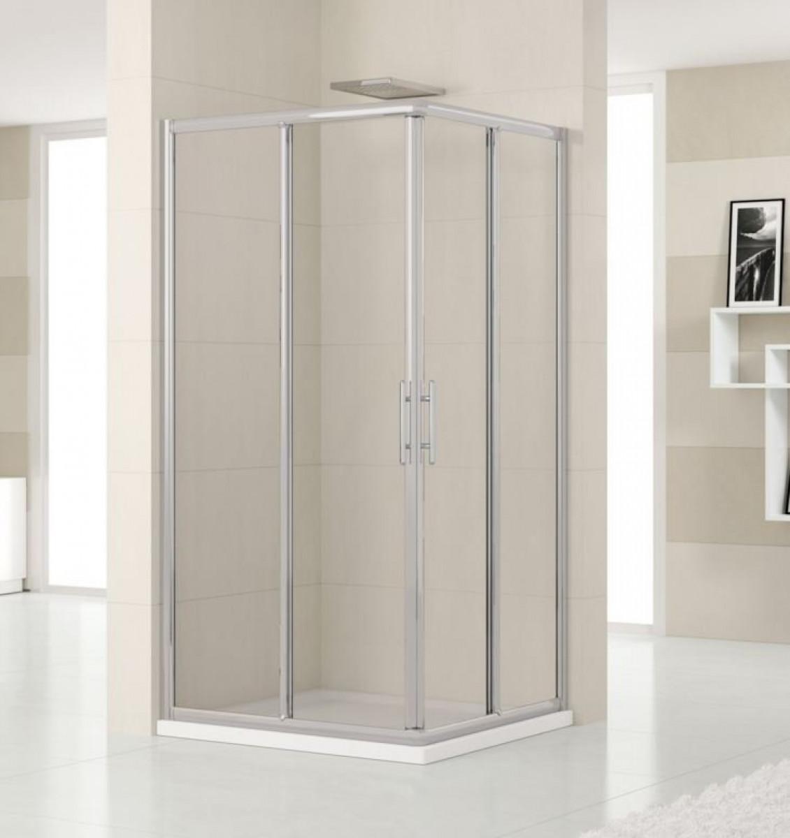 Novellini lunes 720mm corner entry shower enclosure for Novellini shower doors