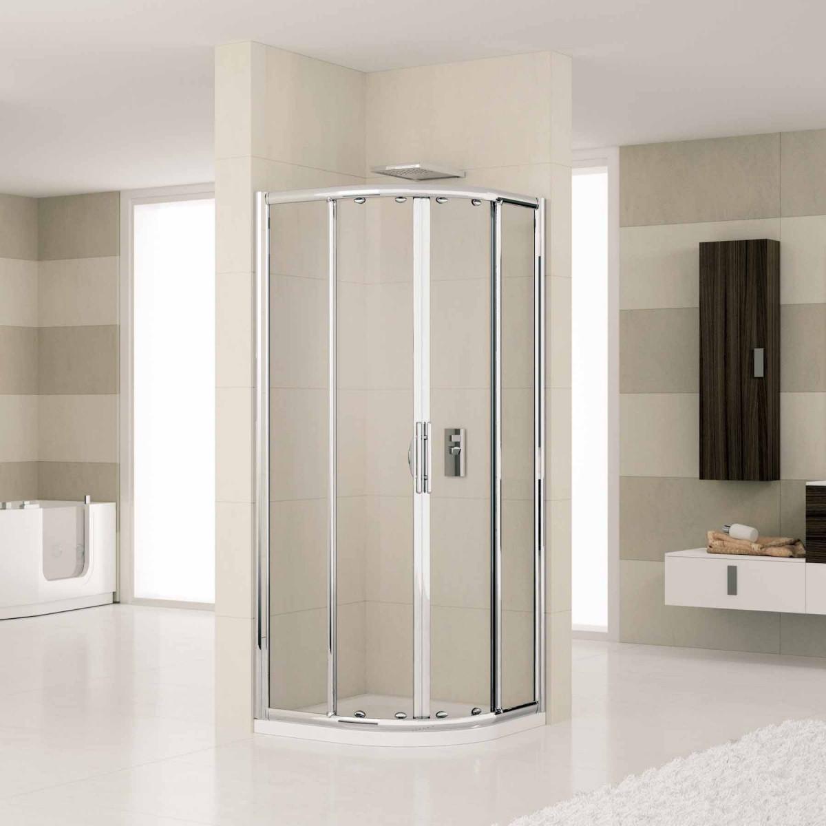 Novellini lunes 800mm quadrant shower enclosure lunesr80 for Novellini shower doors