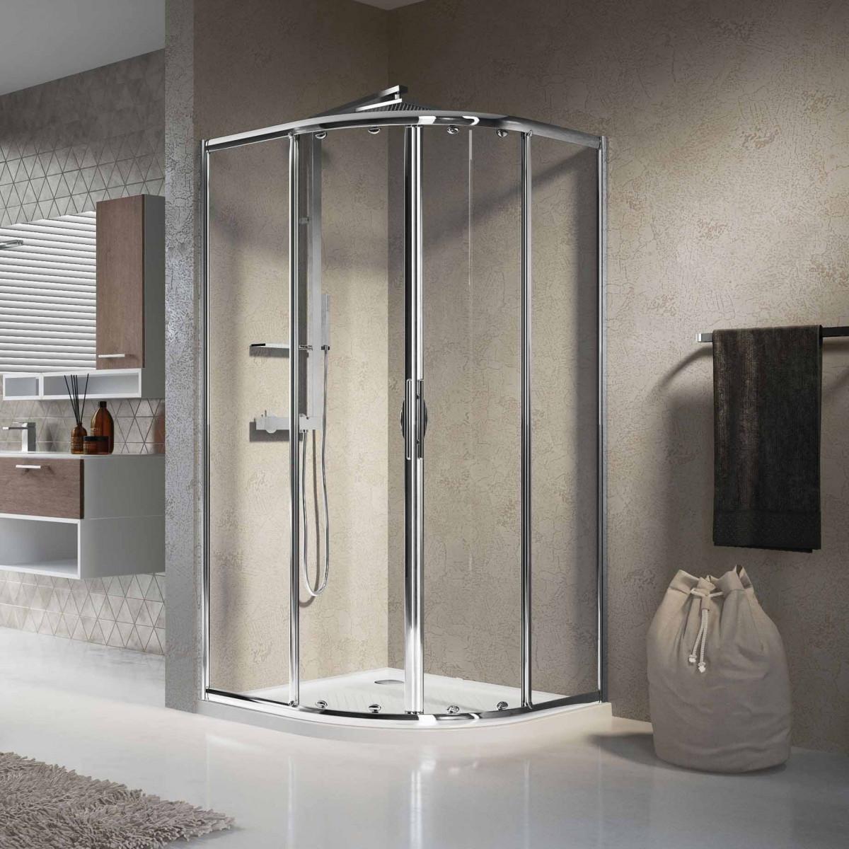 Novellini Lunes 900 Quadrant Shower Enclosure Lunesr90