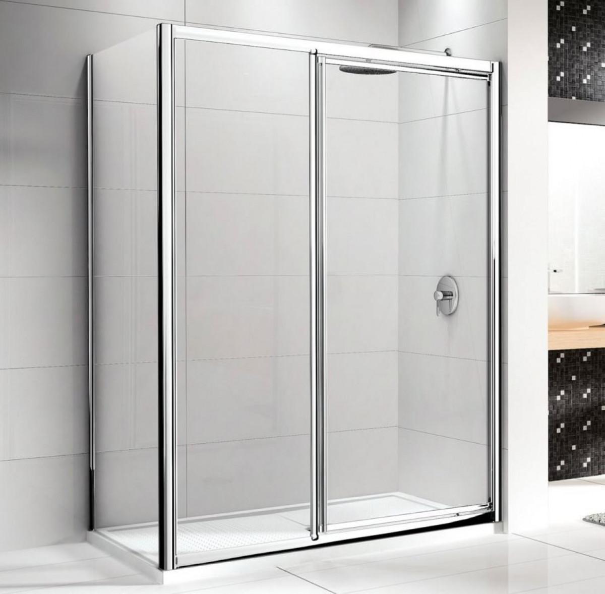 Novellini lunes in line pivot shower doors for Novellini shower doors