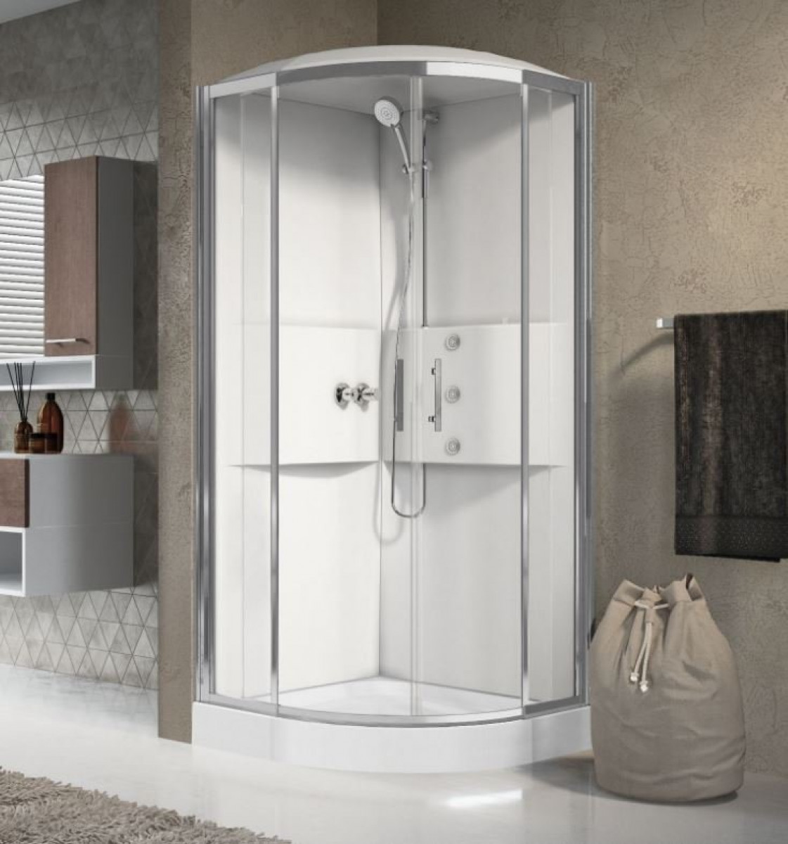 Novellini Media 900 Quadrant Complete Shower Enclosure & Shower Tray -