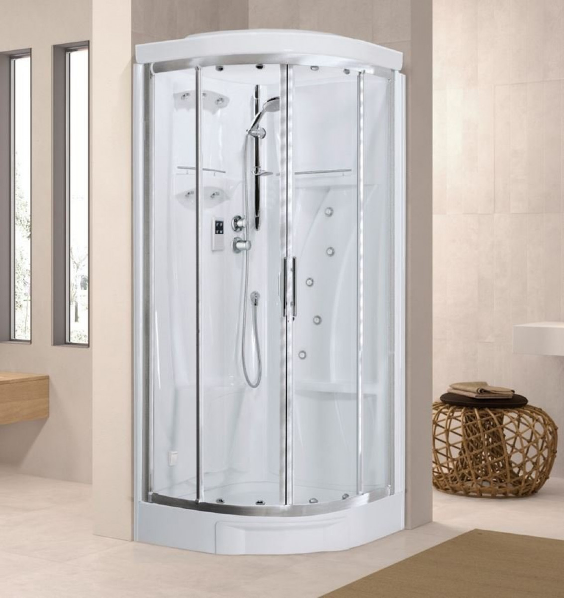 Novellini New Holiday R90 Quadrant Steam & Shower Enclosure