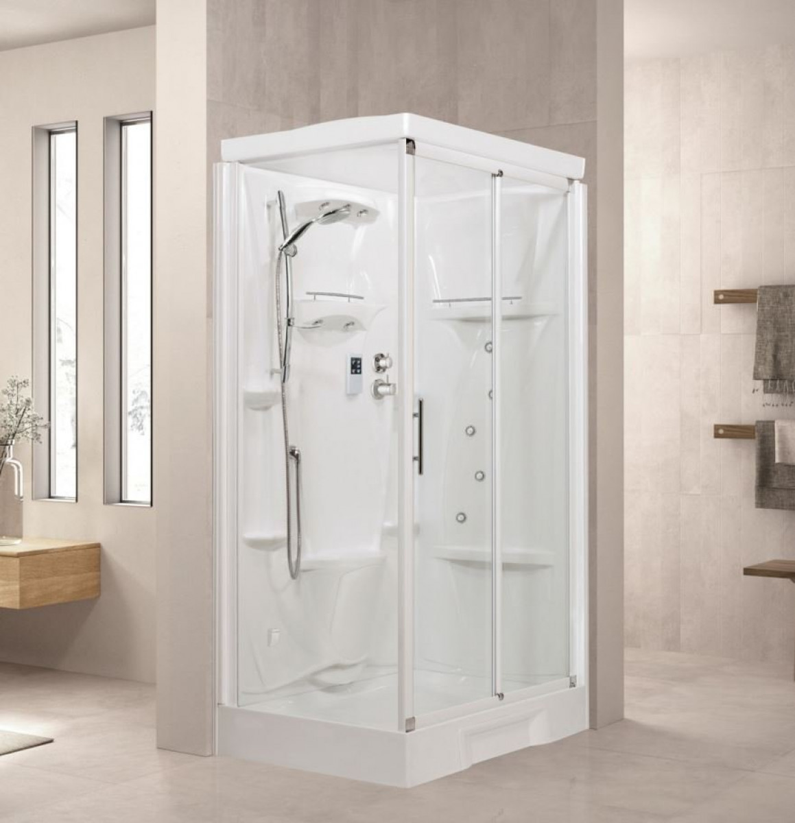 Novellini New Holiday Steam Enclosure, 2P 1200mm x 800mm -