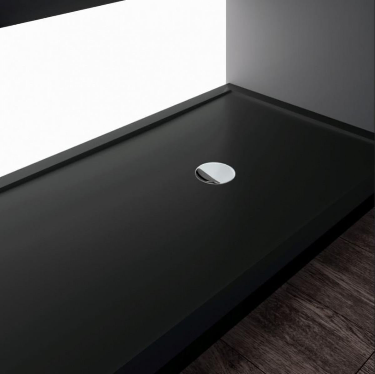 novellini olympic plus shower tray 1700mm x 800mm black. Black Bedroom Furniture Sets. Home Design Ideas