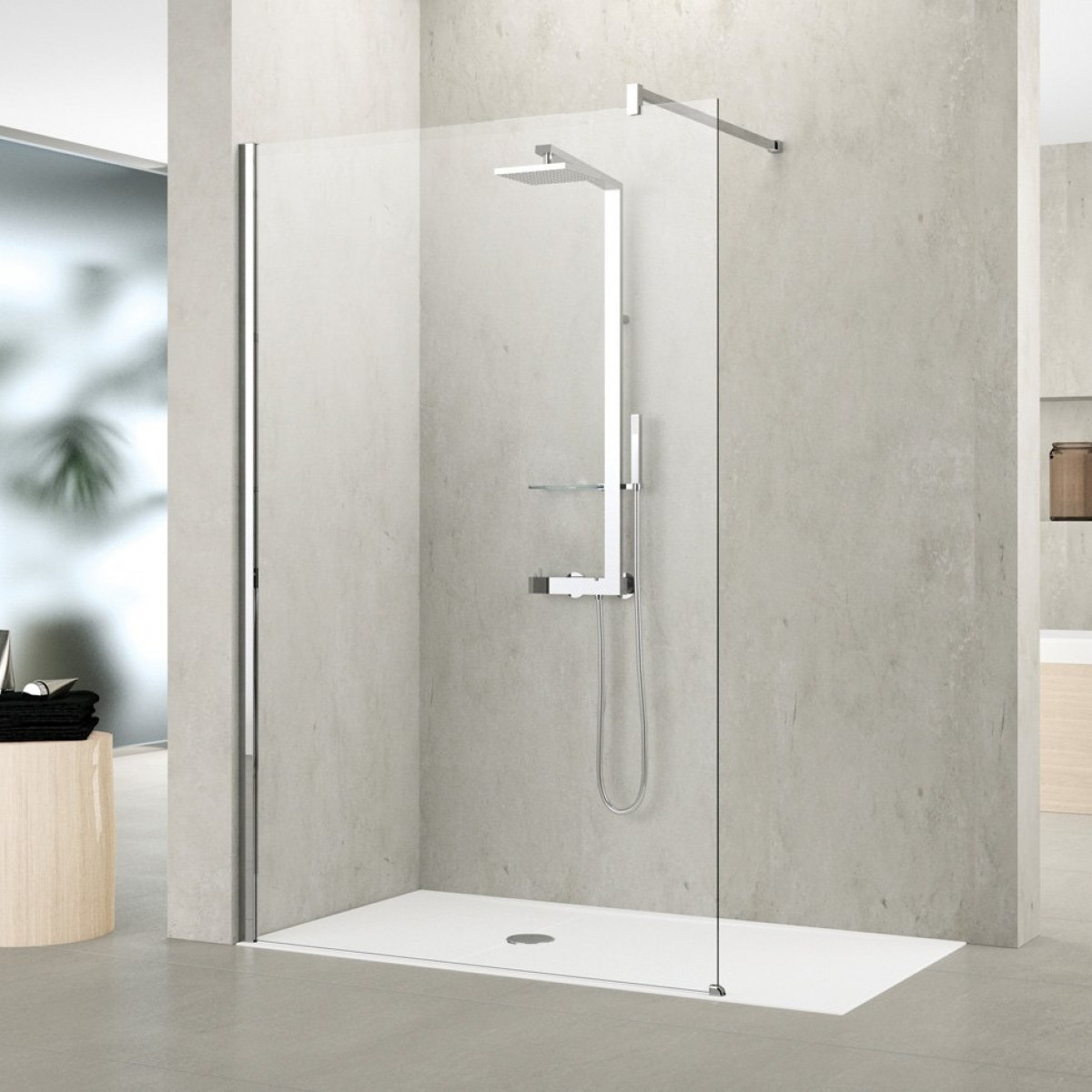 novellini shower panel kuadra h 1000mm kuadh100
