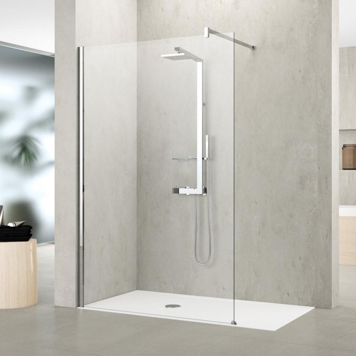 Novellini shower panel kuadra h 1200mm for Novellini shower doors