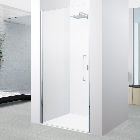 Novellini young 1b 870 910mm hinged shower door y21b871k for Novellini shower doors